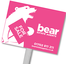 Sell my house sale board with Bear Estate Agents