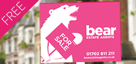 Picture of 'For Sale' Board with Bear the  Estate Agency